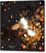 New Year Sparklers Acrylic Print