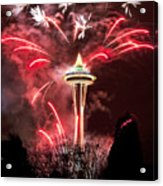 New Years At The Space Needle Acrylic Print