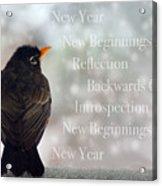 New Years Card Acrylic Print