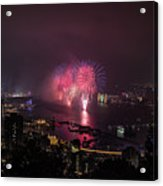 New Year's Eve Fireworks  Acrylic Print