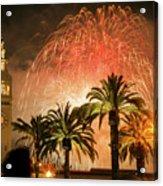 New Years Fireworks Finale San Francisco Acrylic Print