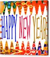 New Year's Greetings Acrylic Print