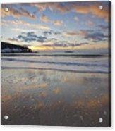 New Year's Morning On Sand Beach Acrylic Print