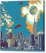 New York America  Skyline - Manhattan Acrylic Print