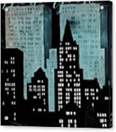 New York Art Deco Acrylic Print
