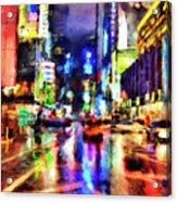 New York At Night - 14 Acrylic Print