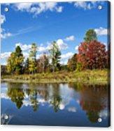 New York Autumn Landscape Acrylic Print
