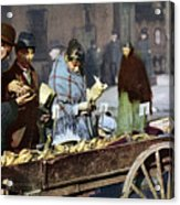 New York: Banana Cart Acrylic Print