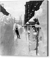New York: Blizzard Of 1888 Acrylic Print