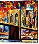 New York Brookyln Bridge Acrylic Print