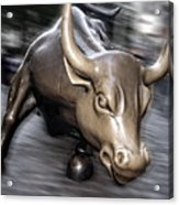 New York Bull Of Wall Street Acrylic Print