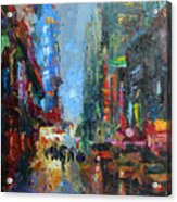New York City 42nd Street Painting Acrylic Print