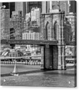 New York City Brooklyn Bridge And East River Acrylic Print