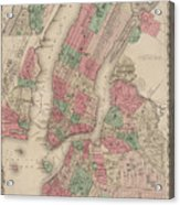New York City, Brooklyn, Jersey City, Hoboken Acrylic Print