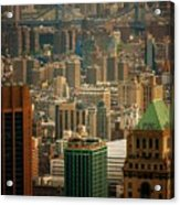 New York City Buildings And Skyline Acrylic Print