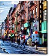 New York City Chinatown Acrylic Print