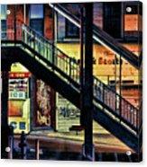 New York City Elevated Subway Stairs Acrylic Print