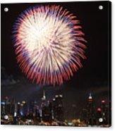 New York City Fireworks Acrylic Print
