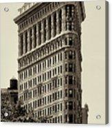 New York City - Flatiron In Sepia Acrylic Print
