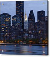 New York City From Across The Water Acrylic Print by Bryan Mullennix