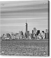 New York City From The Staten Island Ferry Acrylic Print