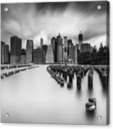 New York City In Black And White Acrylic Print