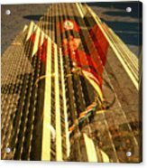 New York City Jogger - Collage Acrylic Print