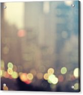 New York City Lights At Dusk Acrylic Print
