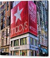New York City Macy's Herald Square Store Acrylic Print