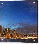 New York City Manhattan Skyline Panorama Acrylic Print