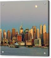 New York City Moonrise I Acrylic Print