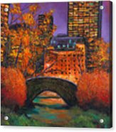New York City Night Autumn Acrylic Print