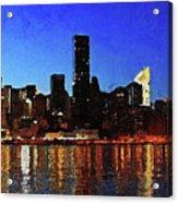 New York City Night Lights Acrylic Print