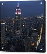 New York City Nights Acrylic Print