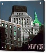 New York City Poster - Wall Street Acrylic Print