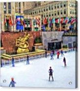 New York City Rockefeller Center Ice Rink Acrylic Print