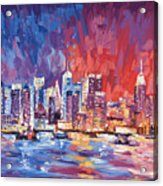 New York City Skyline 02 Acrylic Print