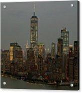 New York City Skyline Aerial - Lower Manhattan Acrylic Print