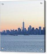 New York City Skyline At Sunrise  Acrylic Print