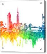 New York City Skyline Color Acrylic Print