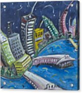 New York City Skyline Hoboken Acrylic Print
