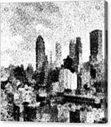 New York City Skyline Sketch Acrylic Print