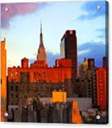 New York City Skyline Sunset Acrylic Print