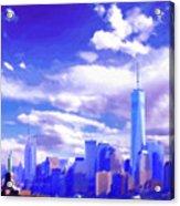 New York City Skyline With Freedom Tower Acrylic Print