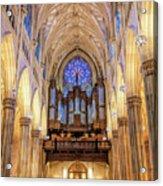 New York City St Patrick's Cathedral Organ Acrylic Print