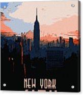 New York City Sunset Acrylic Print