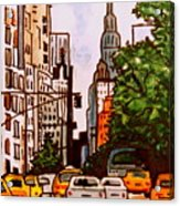 New York City Taxis Acrylic Print