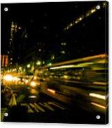 New York City Traffic Acrylic Print