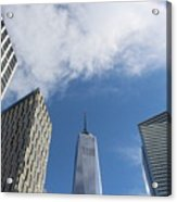 New York City's Freedom Tower - A Perspective Acrylic Print