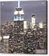 New York Empire State Building Blurred  Acrylic Print